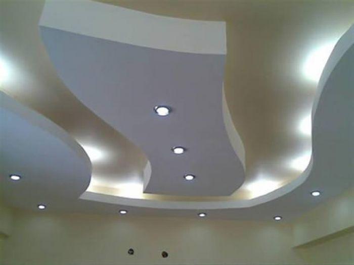 Alçıpan ile yapılmış asma tavan uygulaması