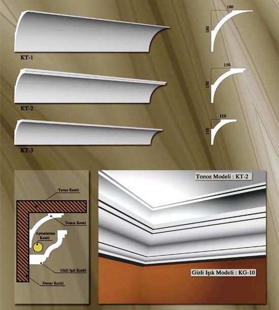 gizli ışıklı kartonpiyer modelleri